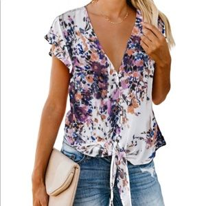 markdowns! Button Front Blouse